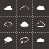 Vector black clouds  icons set Stock Image
