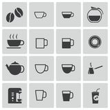 Vector black  coffe   icons Stock Image