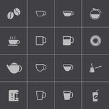 Vector black  coffe   icons set Royalty Free Stock Photos
