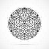 Vector Black Color Mandala over white Royalty Free Stock Image