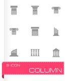 Vector black column icon set Royalty Free Stock Image