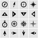 Vector black compass icon set Royalty Free Stock Photos