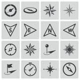Vector black compass icons Stock Photo