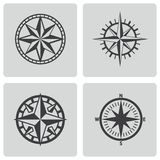 Vector black compass icons set Royalty Free Stock Image