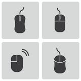 Vector black computer mouse icons set Stock Photography