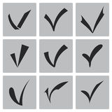 Vector black confirm icons set Stock Images