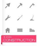 Vector black construction icon set Royalty Free Stock Photo