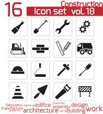 Vector black construction icons Royalty Free Stock Photography