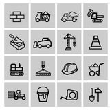 Vector black construction icons set Stock Photo