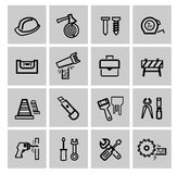 Vector black construction icons set Stock Images