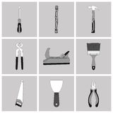 Vector black  construction icons set, design Stock Photo