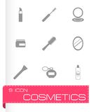 Vector black cosmetics eyes icons set Stock Photos