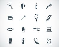 Vector black  cosmetics  icons Royalty Free Stock Photography