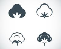 Vector black cotton icons set Stock Photography
