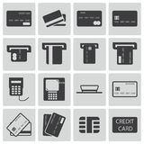 Vector black  credit cart  icons Royalty Free Stock Photo