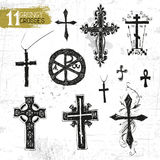 Vector black crosses Stock Images