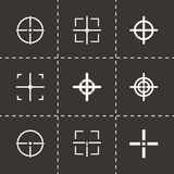 Vector black crosshair icon set Royalty Free Stock Image