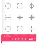 Vector black crosshair icon set Royalty Free Stock Photos