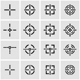 Vector black crosshair icon set Royalty Free Stock Photo