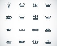 Vector black  crown  icons Stock Photography
