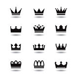 Vector black crowns Stock Photos