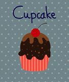 Vector Black Cupcakes Icons Royalty Free Stock Images