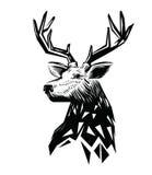 Vector black Deer head Royalty Free Stock Image