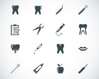 Vector black dental icons Stock Photo