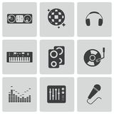 Vector black dj icons set Stock Photo