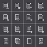 Vector black  document icons set Stock Photo