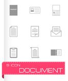 Vector black document icons set Royalty Free Stock Photo