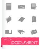 Vector black document icons set. On white background Stock Image
