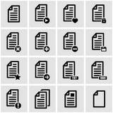 Vector black documents  icon set Stock Photo