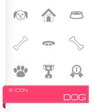 Vector black dog icon set Stock Photo