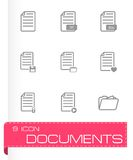 Vector black dog icon set Royalty Free Stock Photography