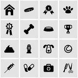 Vector black dog  icon set Stock Photos