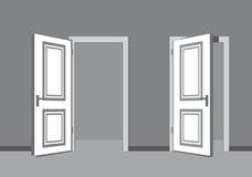 Vector black door Stock Image