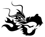 Vector. Black dragon. Royalty Free Stock Images