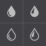 Vector black drop icons set Stock Photography