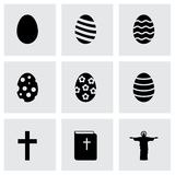 Vector black easter icon set Stock Photo
