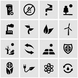 Vector black eco icon set Royalty Free Stock Image