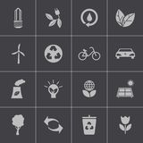 Vector black  eco icons set. This is file of EPS10 format Stock Photo