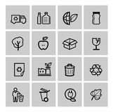 Vector black eco icons set. This is file of EPS10 format Royalty Free Stock Images