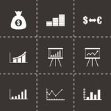 Vector black economic icon set Royalty Free Stock Image