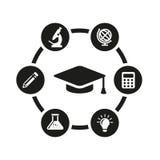 Vector black education icon set Stock Photo