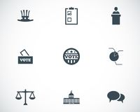 Vector black electiion icons set stock illustration