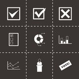 Vector black election icon set Royalty Free Stock Photos