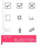 Vector black election icon set Royalty Free Stock Photography