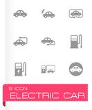 Vector black electric icon set Stock Image
