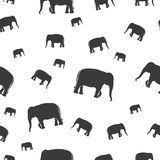 Vector black elephants walking seamless pattern eps10 royalty free illustration